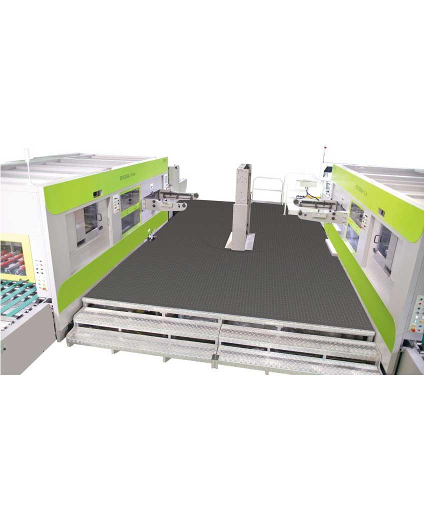 MIRROR MACHINES Dual Diecutter Working Station